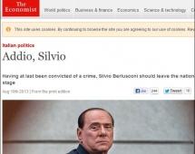"""""""The Economist"""" në faqen e parë: """"Lamtumirë Silvio"""""""