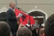 Ramush Haradinaj i kënaqur me protestën e sotme
