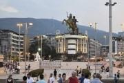 """""""Bomba 35"""": Gjysma e statujave të Shkupit 2014 """"në të zezë"""""""