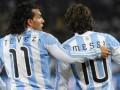 Argjentina i grumbullon Messin dhe Tevezin