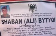 Ndërroi jetë veterani i UÇK -së, Shaban Bytyçi nga Prizreni