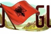 Googel vendos flamurin kuqezi