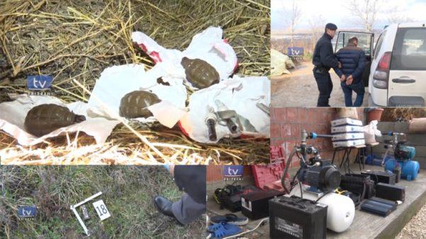 Policia bastis një lokacion në Tusus, gjen gjësende të vjedhura dhe armë (Video)