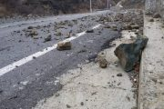 Rrëshqitja e dheut bllokon qarkullimin në magjistralen Shtime-Prizren