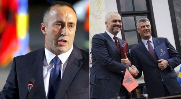 Haradinaj i del kundër idesë së Hashim Thaçit dhe Edi Ramës për ndarje të Kosovës