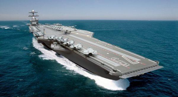Anija e flotës amerikane në brigjet shqiptare