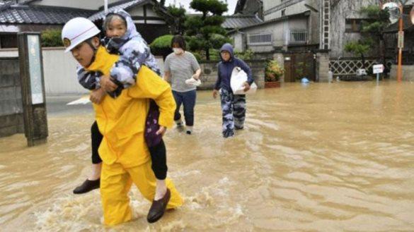 Të paktën 141 të vdekur nga përmbytjet në Japoni