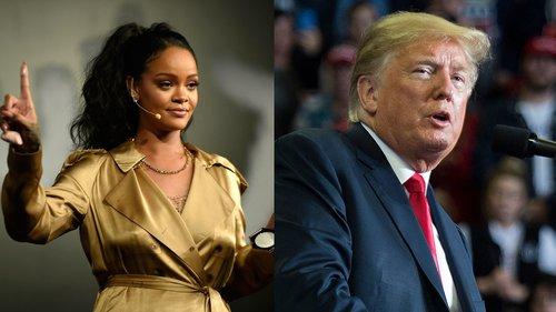 Rihanna kundër Trump: Mos përdor këngët e mia në tubimet e tua!