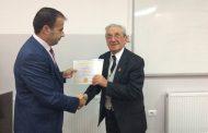 """Tre profesorë nga Shqipëria mbajtën ligjërata publike në Universitetin """"Ukshin Hoti"""" në Prizren"""