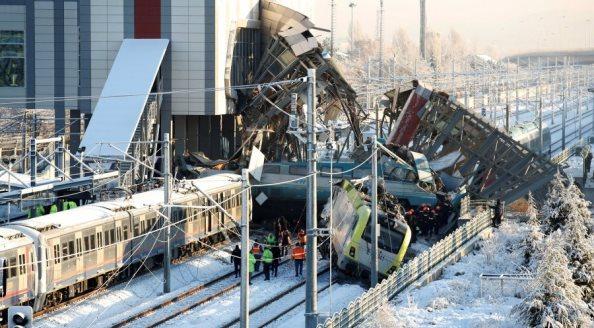Shtatë të vdekur e 46 të plagosur nga përplasja e trenave në Turqi