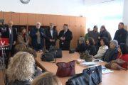 Drejtuesit e SBASHK-ut vizituan grevistët në Prizren, këmbëngulin në përmbushje të kërkesave nga qeveria