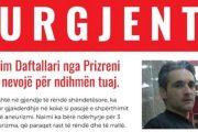 Naim Daftallari nga Prizreni ka nevojë për ndihmën tuaj