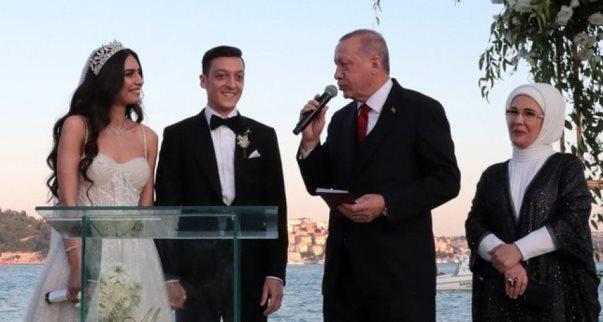 Erdogani dëshmitar në dasmën e Ozilit