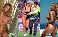 Disa nga fotot më seksi të biondes që ndërpreu finalen e Ligës së Kampionëve (FOTO/VIDEO)