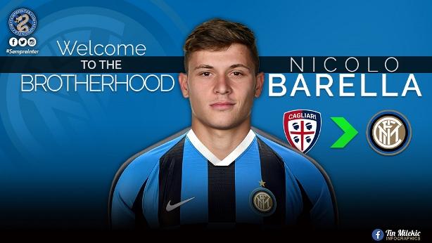 E kryer, Barella tek Interi për 45 milionë euro