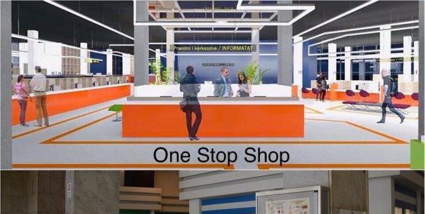 """Haskuka e Hajdari inspektojnë punimet e projektit """"One stop shop"""""""