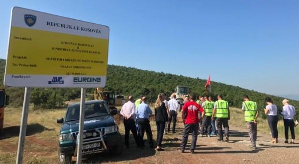 Rahovec, nis ndërtimi i rrugës në zonën turistike