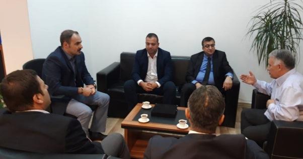 Rektori Temaj dhe prorektori Yildirim pritën në takim kryetarin e Komunës të Çanit në Çanakale