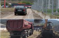 """Hapet rruga në lagjen """"Gurishtë"""" të Prizrenit"""