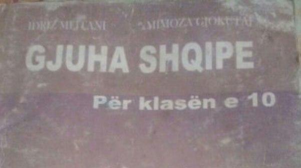Gjuha shqipe e klasës së dhjetë me plot lëshime