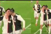 Ronaldo puth Dybalan në buzë? Kjo pamje gjatë festimit të golit po bëhet virale (VIDEO)